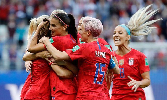 Us Fussballerinnen Schreiben Neuen Wm Rekordsieg Diepresse Com