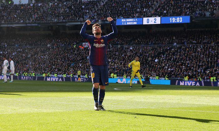 Lionel Messi in gewohnter Pose und im Dress des FC Barcelona. Wird Katalonien unabhängig, könnte der Argentinier ablösefrei wechseln.