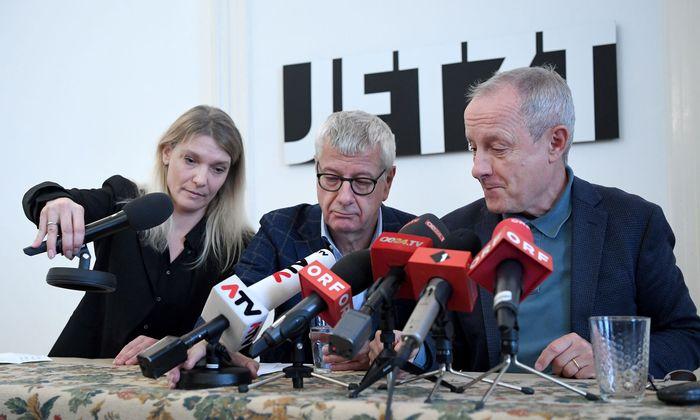 Maria Stern, Bruno Rossmann und Peter Pilz