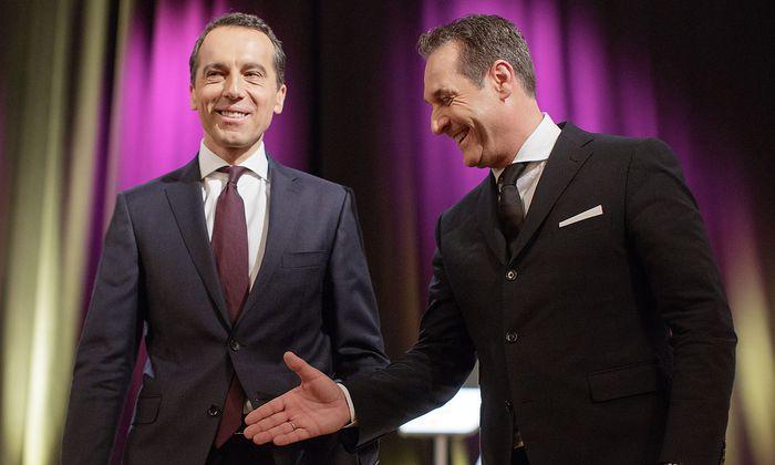 Christian Kern (l.) und Heinz-Christian Strache.