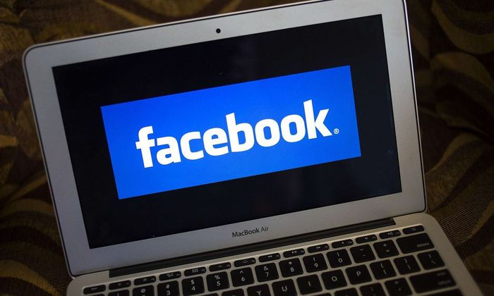 A file photo of a Facebook logo
