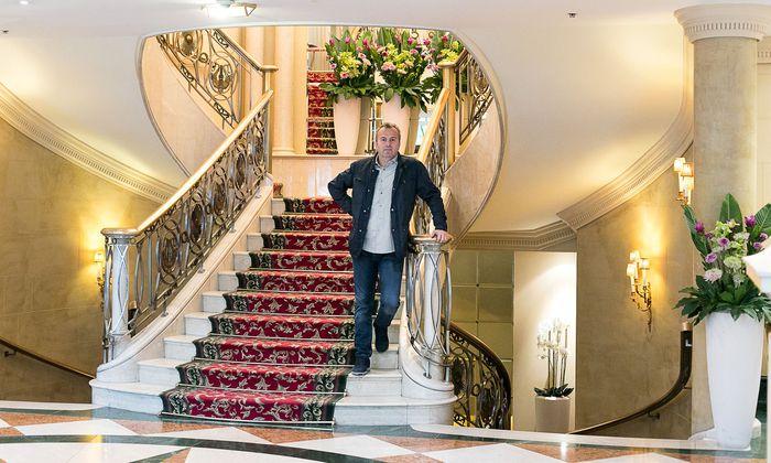Rückkehr nach Wien, hier im Grand Hotel: Dejan Savićević.