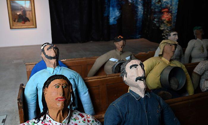 """""""Collective Conscience"""", ein Werk des kolumbianischen Künstlers Oscar Murillo."""