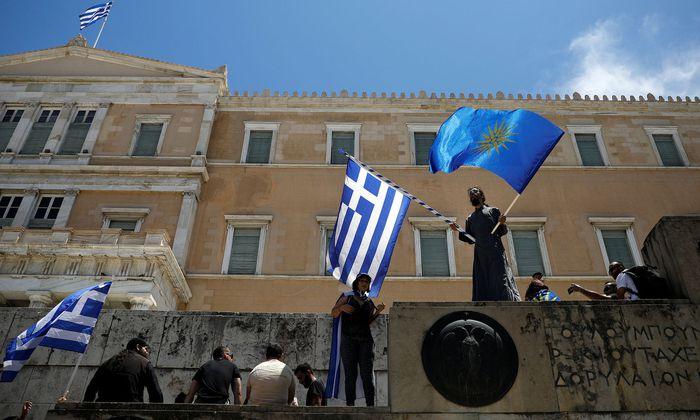 Russland soll versucht haben, gegen eine Lösung des Namensstreits zwischen Athen und Skopje mobil zu machen.