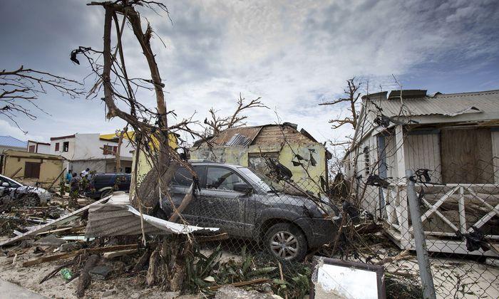 Auf der Karibikinsel Saint-Martin wurden ganze Häuser verwüstet.