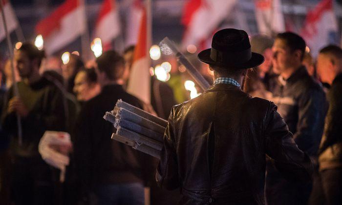 Symbolbild: Zuletzt sorgte auch ein Identitärenaufmarsch in Wien für Aufregung