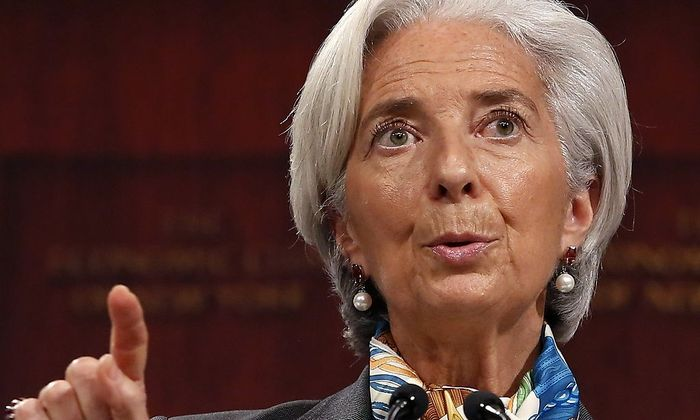 IMF Managing Director Christine Lagarde speaks to the Economic Club of New York in New York
