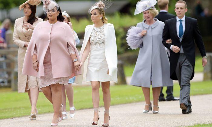 Schaulaufen inklusive Hutparade bei der Hochzeit von Pippa Middleton.