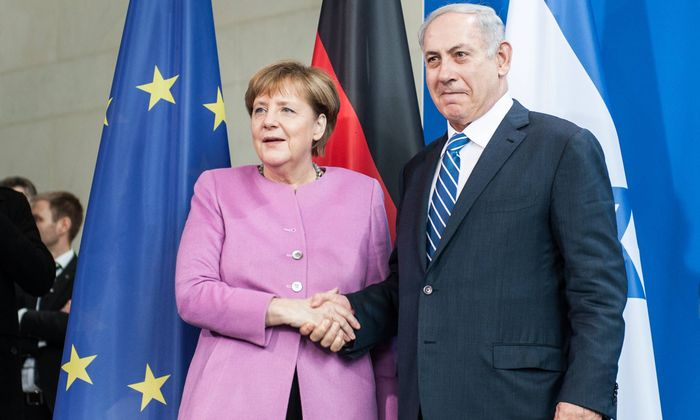 Bundeskanzlerin Angela Merkel und Israels Ministerpräsident Benjamin Netanyahu.