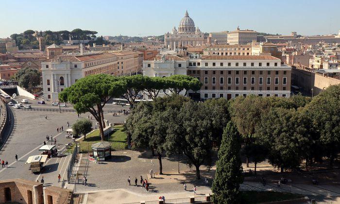 Blick auf Rom und den Vatikan