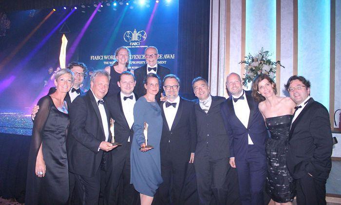Die österreichischen Gold-Gewinner sowie nahmhafate Vertreter von FIABCIA Austria und ÖVI bei der feierlichen Preisverleihung in Moskau.