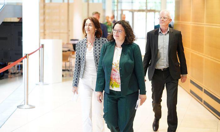 26 05 2019 Berlin Deutschland GER Europawahl Willy Brandt Haus SPD Zentrale Katarina Barley And