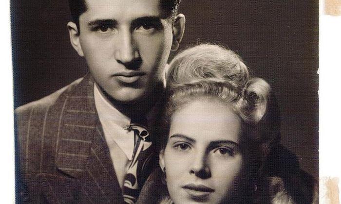 Emanuel Fuchs und seine Frau, Judith, in den USA, 1941.