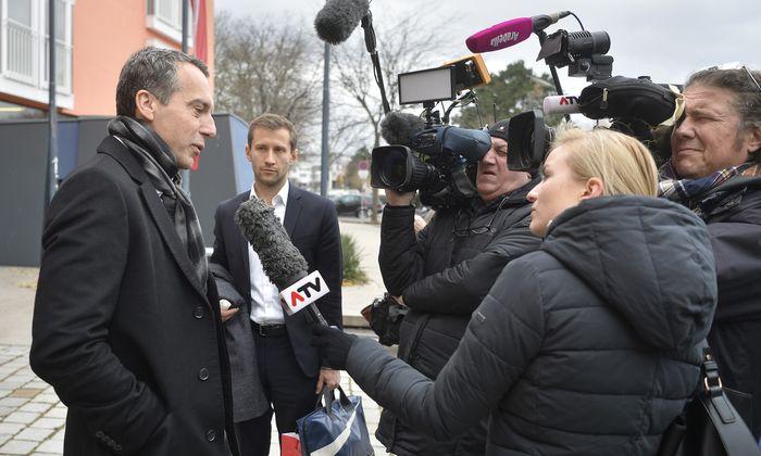 Noch-Kanzler Christian Kern traf sich mit dem erweiterten Präsidium der SPÖ zur Klausur.