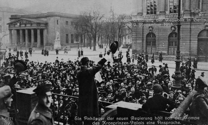 Ausrufung der Weimarer Republik vor 100 Jahren