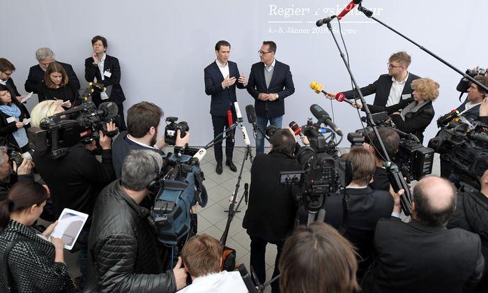 Im Mittelpunkt des ersten Tages der Regierungsklausur im steirischen Seggauberg stand das Thema Familienbeihilfe.