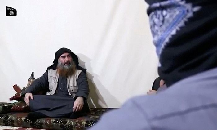 A bearded man with Islamic State leader Abu Bakr al-Baghdadi´s appearance speaks in this screen grab taken from video