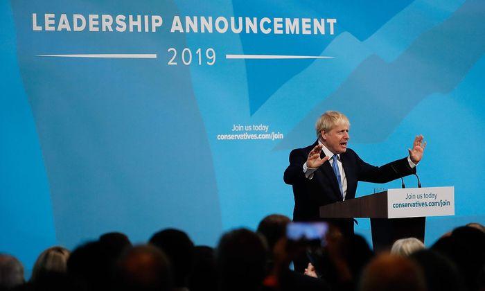 """""""Danke für diese unfassbare Ehre"""", sagte Johnson in seiner Siegesrede."""