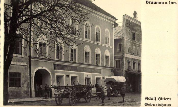 Braunau a Inn Adolf Hitlers Geburtshaus Gasthaus Jakob Backleitner