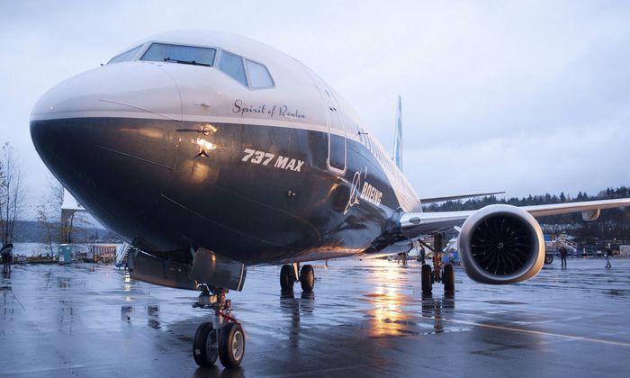 Eine Maschine des Typs 737 Max