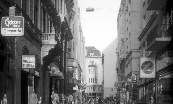 Aufgerissene Stra�e in Budapest