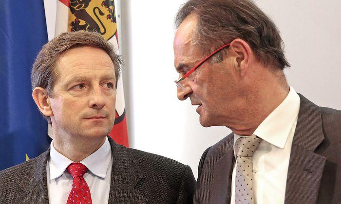 Archivbild: Rudolf Benger übernahm im Jahr 2014 die ÖVP Kärnten von Gabriel Obernosterer (re.).