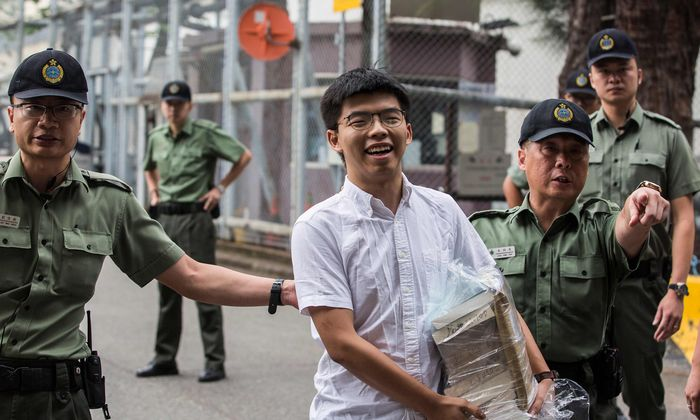 Wieder in Freiheit: Joshua Wong durfte das Lai-Chi-Kok-Gefängnis am 17. Juni 2019 verlassen.