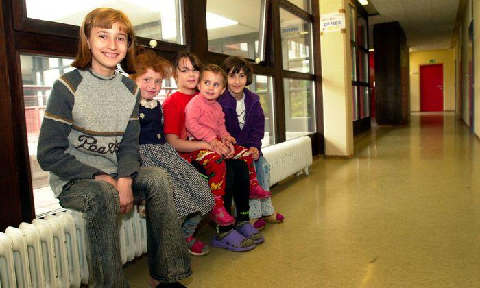 Flüchtlingskinder in Österreich