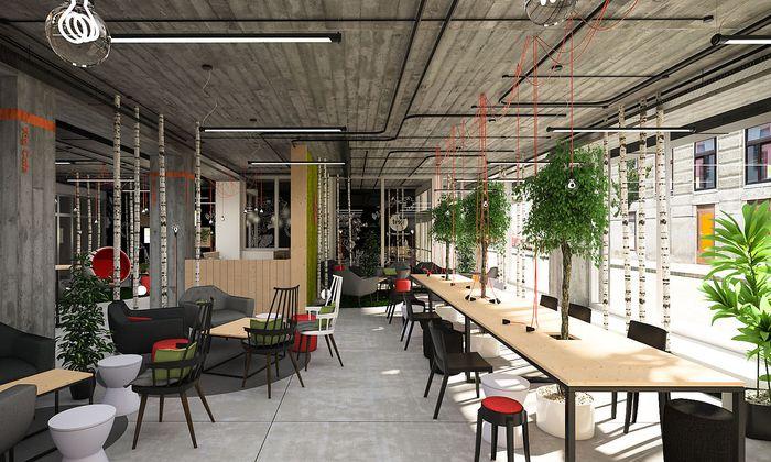 Der Wiener Campus umfasst 5000 m2 auf sechs Stöcken.