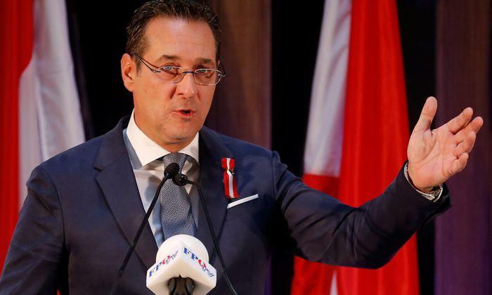 FPÖ-Obmann Heinz-Christian Strache.