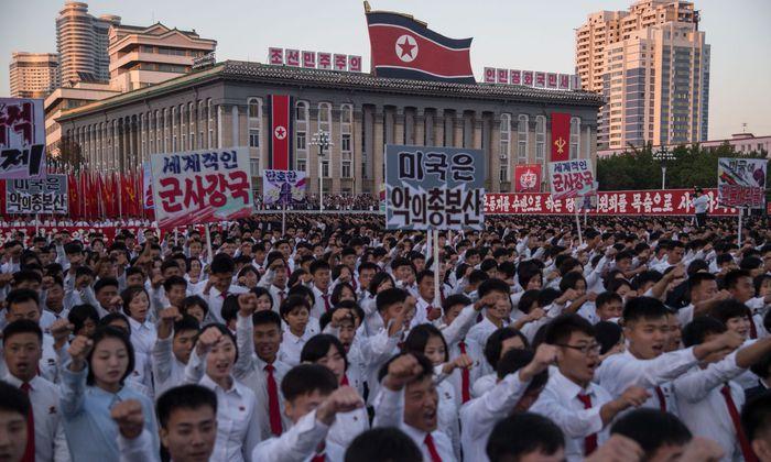 Massenkundgebungen sind in Nordkorea nicht unüblich