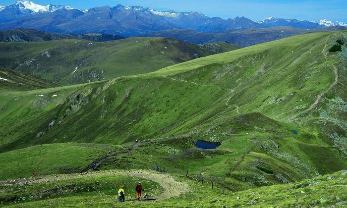 Nockalm Steier Alpenkette.