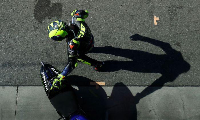 Nur noch ein Schatten seiner selbst? Motorradikone Valentino Rossi.