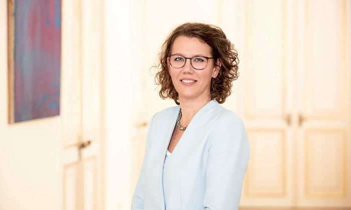 Die neue Bildungsministerin Iris Rauskala.