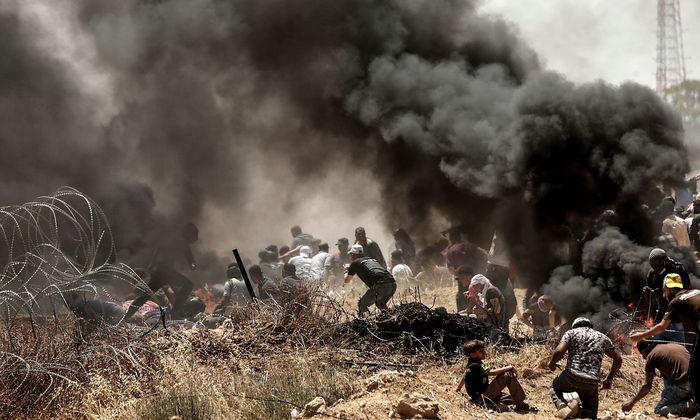 Demonstranten im Gazastreifen
