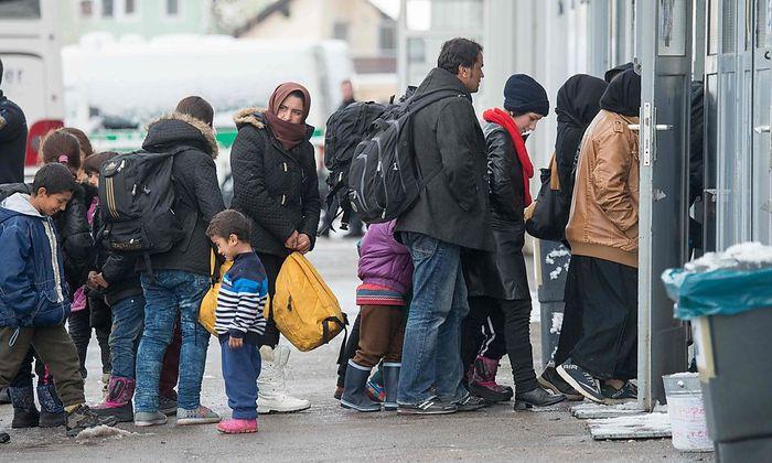 Asylwerber in Deutschland.