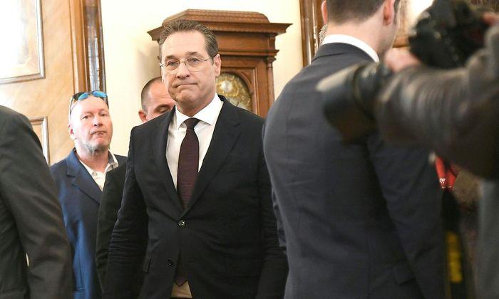 Heinz Christian Strache nach seiner Rücktrittsrede nach Auftauchen des Ibiza-Videos.