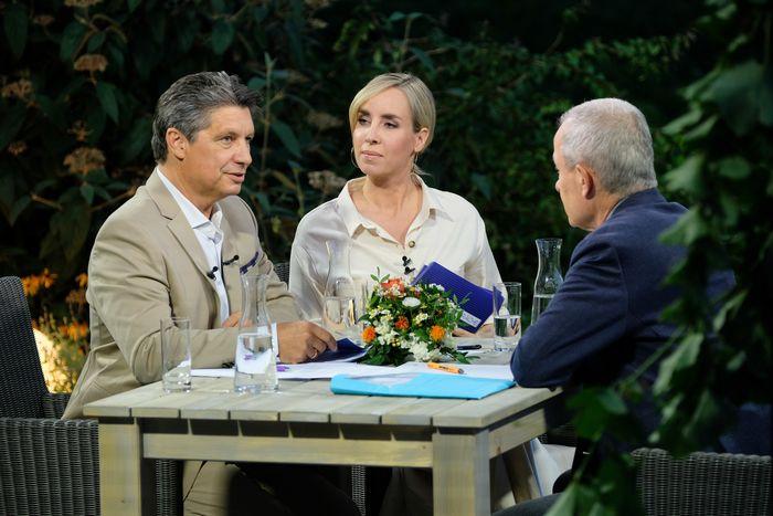 Hans Bürger und Nadja Bernhard hatten bei den ORF-Sommergesprächen Peter Pilz als ersten Gast.