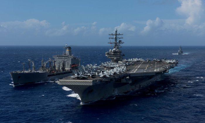 Der Flugzeugträger USS Ronald Reagan