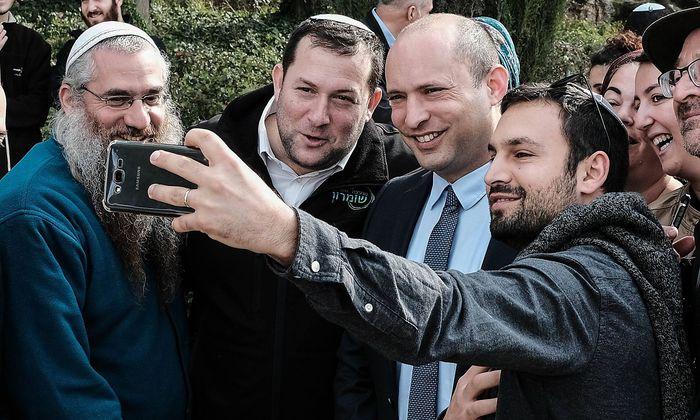 December 16 2018 Jerusalem Israel NAFTALI BENNETT 2nd R Head of the Jewish Home Party Min