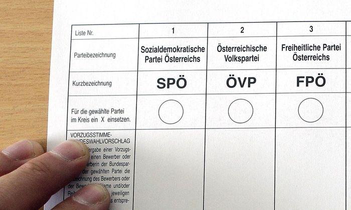 Symbolbild: Ausschnitt eines Stimmzettels von 2013