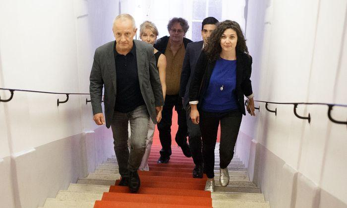Peter Pilz und sein Team Maria Stern, Peter Kolba, Sebastian Bohrn-Mena und Stephanie Cox