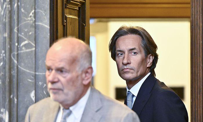 Karl Heinz Grasser und Anwalt Manfred Ainedter