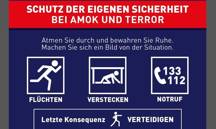 Verhalten bei Amok und Terror