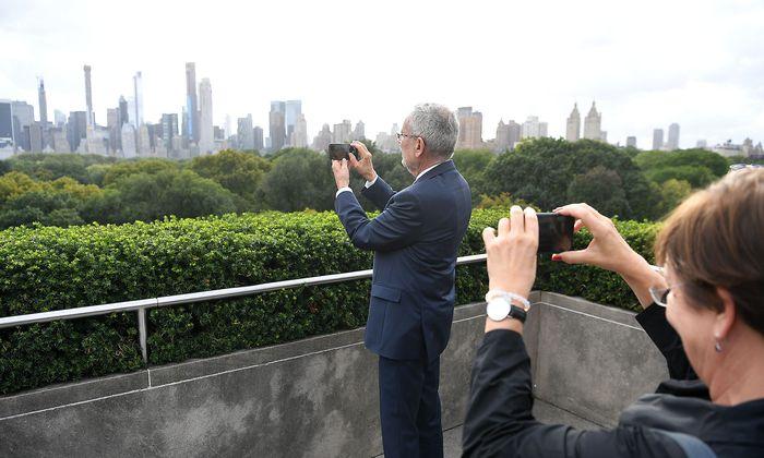 Van der Bellen, seine Ehefrau, der Central Park und die Skyline von Manhattan. Ein Foto aus dem Vorjahr.