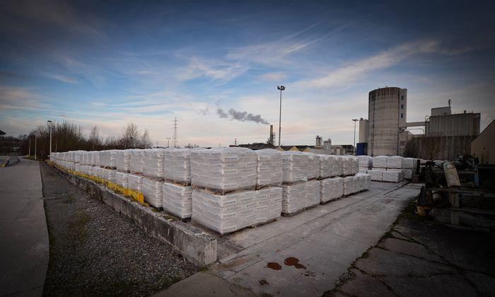 HARMIGNIES BELGIUM Illustration picture shows the Harmignies branch of cement manufacturer CBR