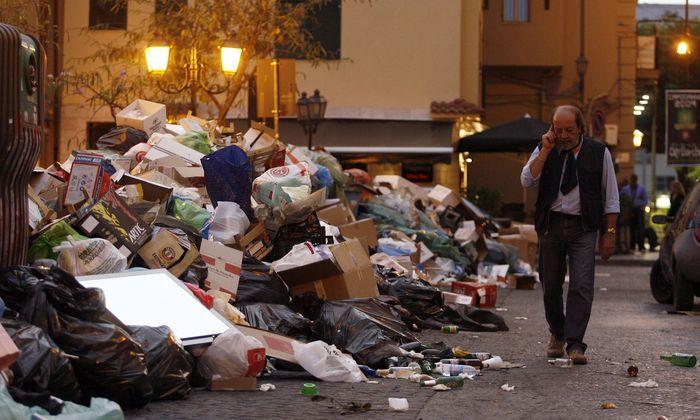 Im Süden Italiens gibt es chronische Probleme mit der Müllentsorgung