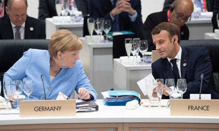 Angela Merkel und Emmanuel Macron loteten beim G20-Treffen in Osaka Lösungen für den EU-Personalstreit aus.
