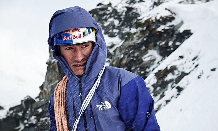 David Lama im Jänner 2018 auf dem Stubaier Gletscher