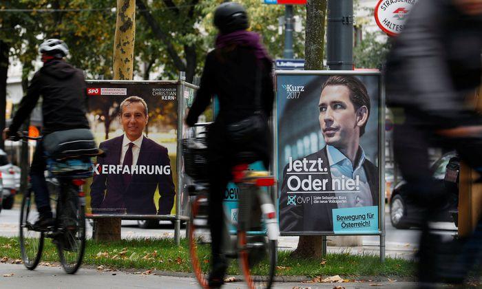 Symbolbild: Plakate von SPÖ und ÖVP